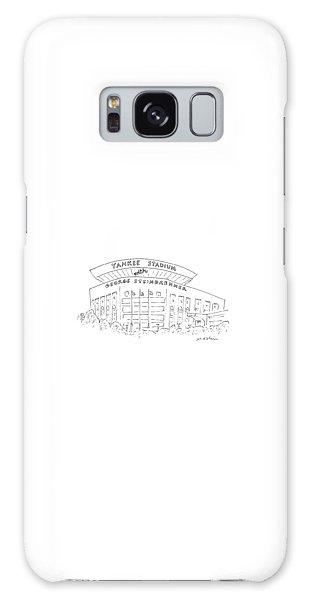 Yankee Stadium Galaxy S8 Case - New Yorker June 15th, 1987 by Michael Maslin