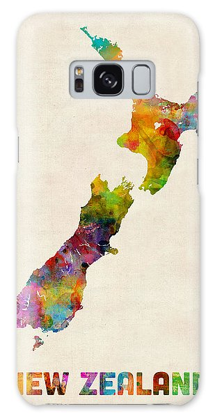 New Zealand Watercolor Map Galaxy Case