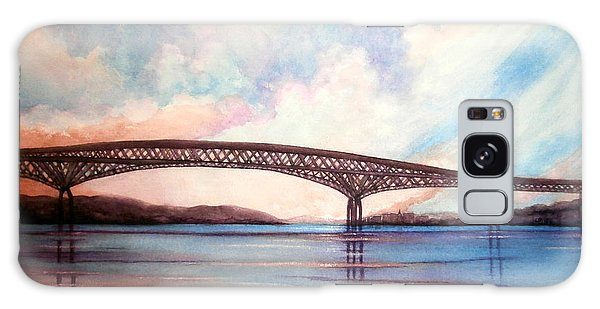 Newburgh Beacon Bridge Sky  Galaxy Case by Janine Riley