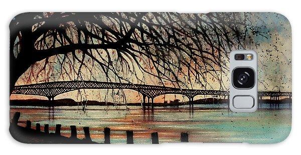 Newburgh Beacon Bridge Sunset Galaxy Case