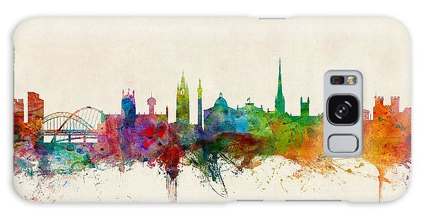 England Galaxy Case - Newcastle England Skyline by Michael Tompsett