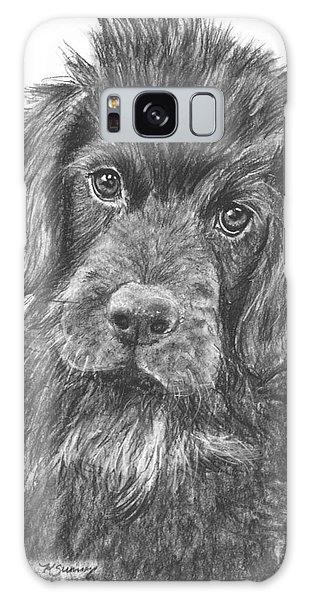 Newfoundland Puppy Sketch Galaxy Case by Kate Sumners