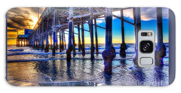 Newport Beach Pier - Low Tide Galaxy Case by Jim Carrell
