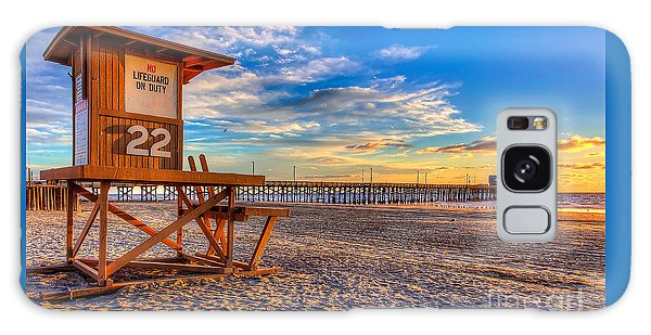 Newport Beach Pier - Wintertime  Galaxy Case by Jim Carrell