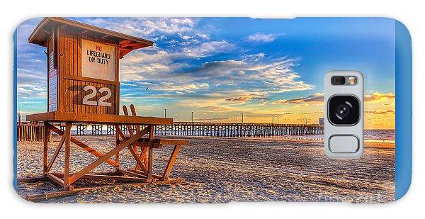 Swimming Galaxy Case - Newport Beach Pier - Wintertime  by Jim Carrell