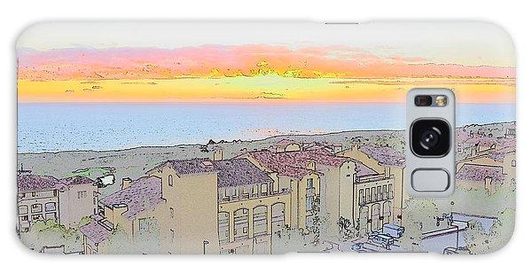 Newport Coast Sunset Galaxy Case by Penny Lisowski