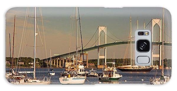 Newport Harbor With Pell Bridge Galaxy Case by Nancy De Flon