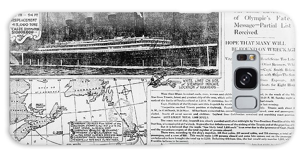 Language Galaxy Case - News Report On Titanic Disaster by Library Of Congress