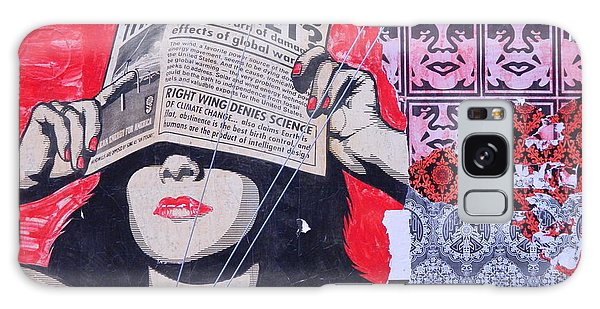 Shepard Fairey Graffiti Andre The Giant And His Posse Wall Mural Galaxy Case by Kathy Barney