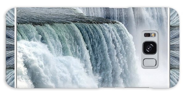 Galaxy Case featuring the photograph Niagara Falls American Side Closeup With Warp Frame by Rose Santuci-Sofranko