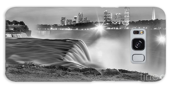 Niagara Falls Black And White Starbursts Galaxy Case by Adam Jewell