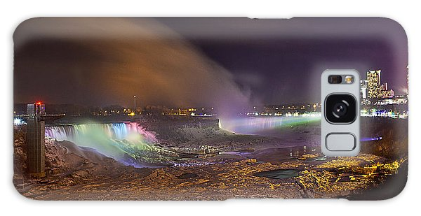 Niagara Falls Ice Bridge Galaxy Case by Richard Engelbrecht
