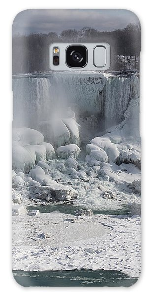 Niagara Falls Ice Buildup - American Falls New York State U S A Galaxy Case