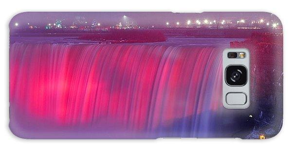 Niagara Falls Pretty In Pink Lights. Galaxy Case