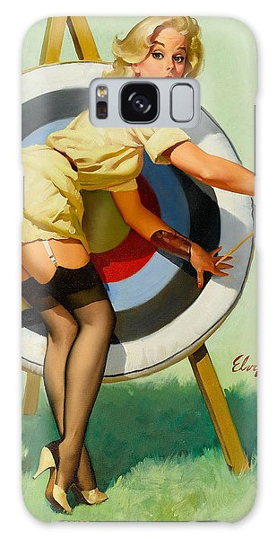 Nice Archery Shot - Retro Pinup Girl Galaxy Case