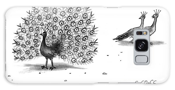 Peacocks Galaxy Case - Nice Buns by Sam Gross