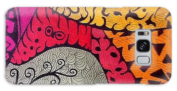 Galaxy Case - Nice Colors In A Doodling Designs I by Sandra Lira