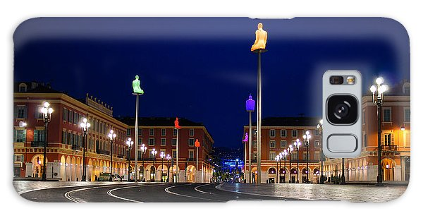 Nice France - Place Massena Blue Hour  Galaxy Case