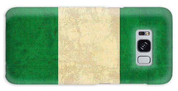 Nigeria Galaxy Case - Nigeria Flag Vintage Distressed Finish by Design Turnpike