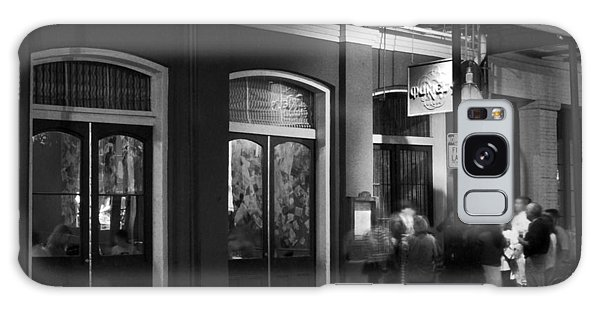 Night At Muriel's Jackson Square In Black And White Galaxy Case