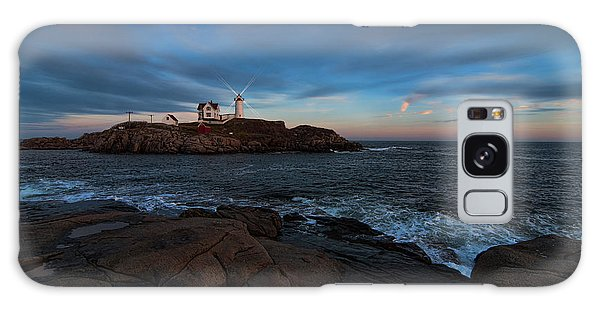 Night At Nubble Light Galaxy Case by Sharon Seaward