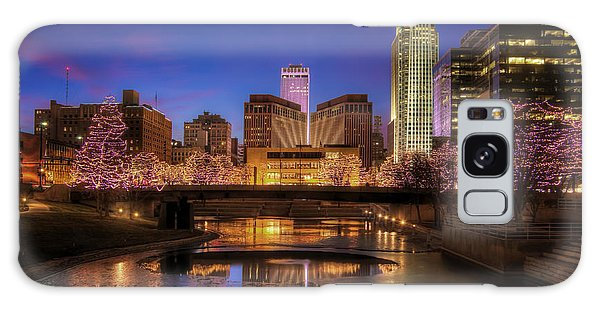 Night Cityscape - Omaha - Nebraska Galaxy Case by Nikolyn McDonald