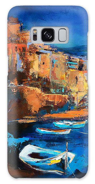 Night Colors Over Riomaggiore - Cinque Terre Galaxy Case by Elise Palmigiani