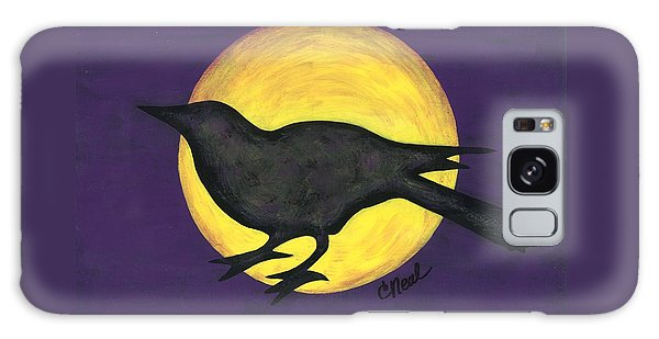 Night Crow On Purple Galaxy Case
