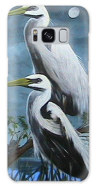Night Egrets Galaxy Case