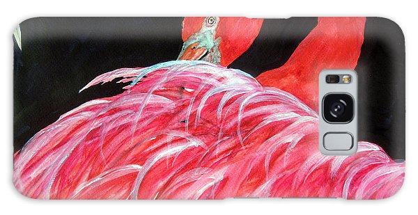 Night Flamingo Galaxy Case by Lil Taylor