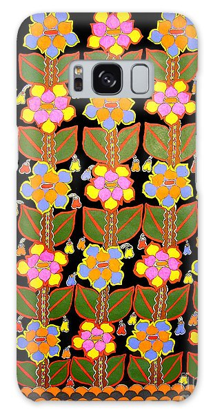 Night Flower-madhubani Paintings Galaxy Case