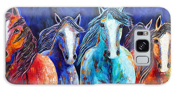 Night Horse Rendezvous Galaxy Case