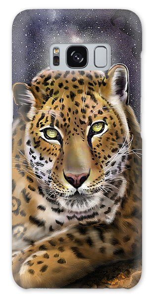 Galaxy Case featuring the painting Fourth Of The Big Cat Series - Leopard by Thomas J Herring