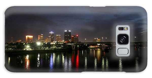 Night On The Junction Bridge Galaxy Case