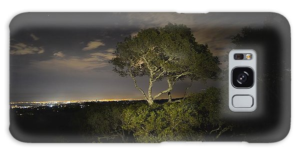 Night Glow Of A Tree Galaxy Case by Alex King