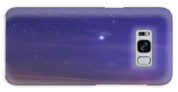 Jupiter Galaxy Case - Night Sky And Setting Moon by Luis Argerich