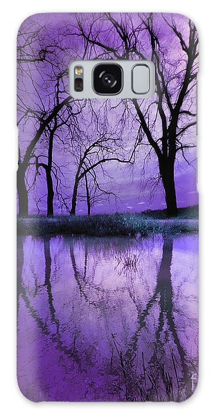 Night Sky In Purple Galaxy Case