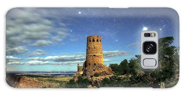 Desert View Tower Galaxy Case - Night Sky Over Grand Canyon Watchtower by Babak Tafreshi