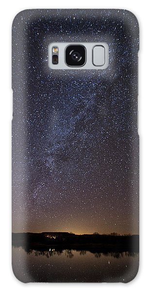 Night Sky Reflected In Lake Galaxy Case