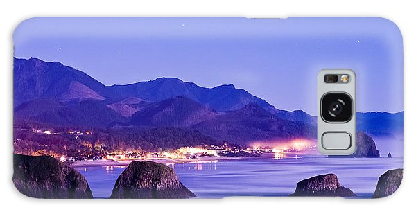 Night View Of Cannon Beach Galaxy Case