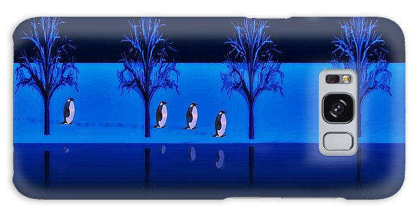 Night Walk Of The Penguins Galaxy Case