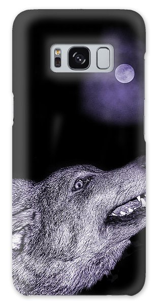 Night Wolf Galaxy Case by Angel Jesus De la Fuente