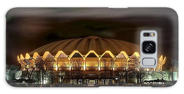 Galaxy Case featuring the photograph night WVU basketball Coliseum arena in by Dan Friend