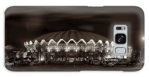 Galaxy Case featuring the photograph night WVU Coliseum basketball arena by Dan Friend