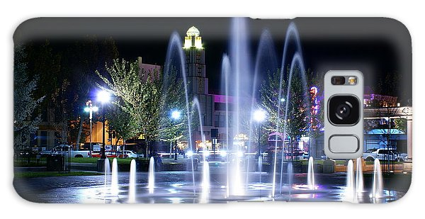 Nighttime At Chico City Plaza Galaxy Case