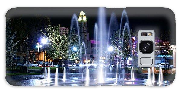 Nighttime At Chico City Plaza Galaxy Case