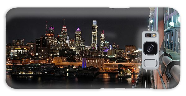 Nighttime Philly From The Ben Franklin Galaxy Case by Jennifer Ancker