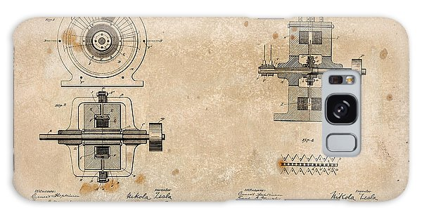 Galaxy Case - Nikola Tesla's Alternating Current Generator Patent 1891 by Paulette B Wright