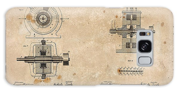 Nikola Tesla's Alternating Current Generator Patent 1891 Galaxy Case