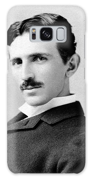 Nikola Tesla Portrait Galaxy Case